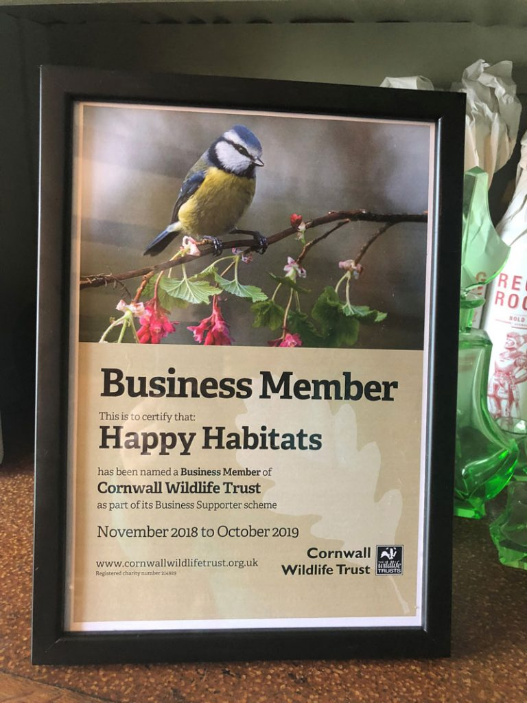 Cornwall Wildlife Trust Business Supporters