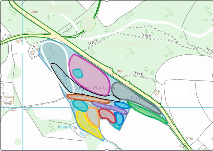 Woodland management map